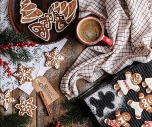 christmas, coffee, and cookie image