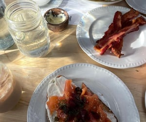 aesthetic, bacon, and bread image