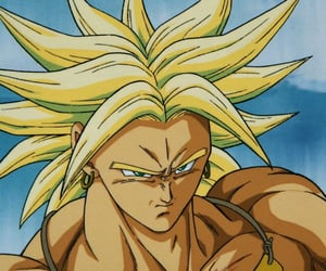 anime, dragon ball z, and broly image