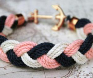 bracelet, anchor, and pink image