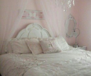 pink, pastel, and bedroom image
