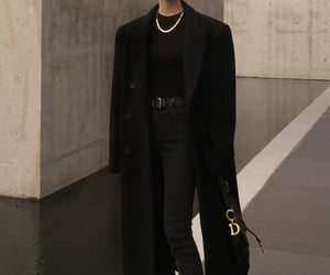 black, casual, and classy image