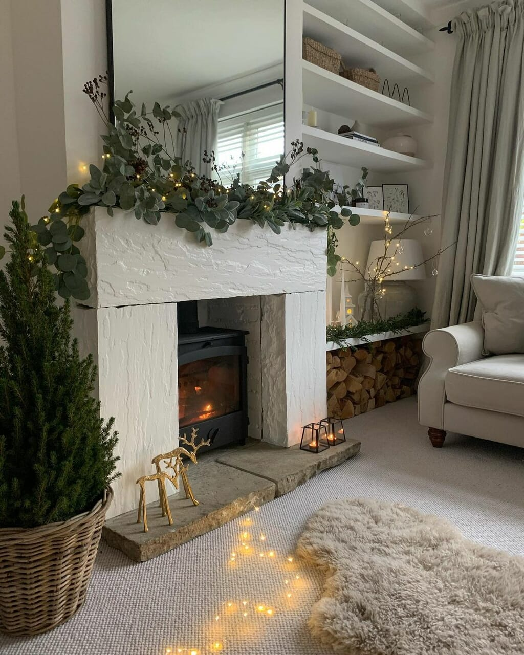 beige, christmas, and decor image