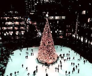 christmas, winter, and ice skating image