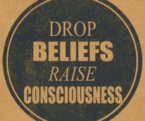 raise consciousness, drop beliefs, and what is the anagram image