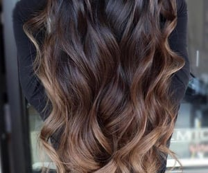 brown, ombre, and brown hair image