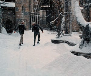 harry potter, snow, and winter image