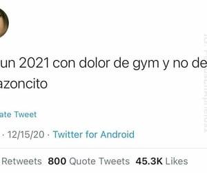 gym, frases en español, and 2021 image