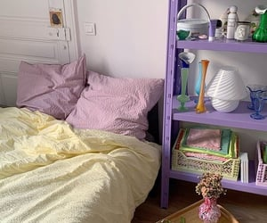 aesthetic, bed, and pastel image