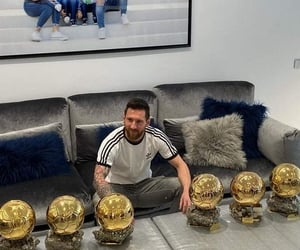 football, superbe, and messi image