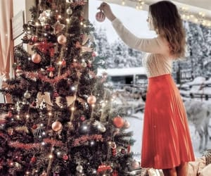 chic, christmas lights, and fashion image