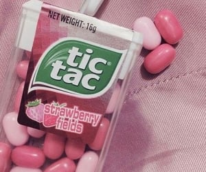 pink, tic tac, and strawberry image