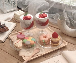 food, sweets, and cafe image