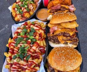 food, burger, and chocolate image