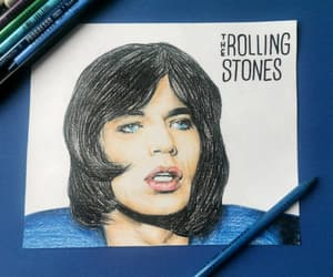 artwork, classic rock, and colored pencil image