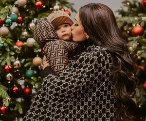 brunette, christmas, and fashion image