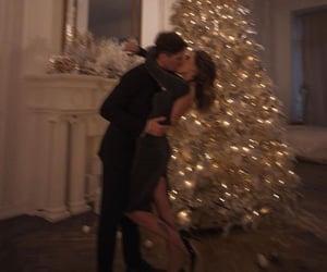 christmas, couple, and style image