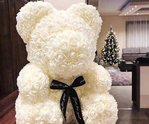 flowers, bear, and luxury image