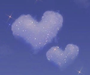 aesthetic, hearts, and clouds image