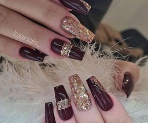 maroon, nail art, and beautiful image
