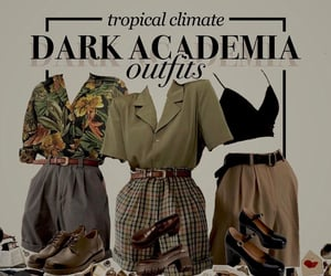 outfit, outfits, and dark academia aesthetic image