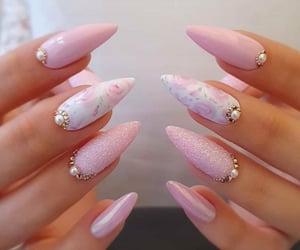beautiful, nail art, and pink image
