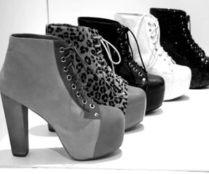 cute shoes, grey, and high heels image