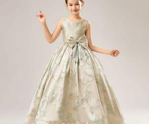 birthday dress, gold dress, and little girl dress image