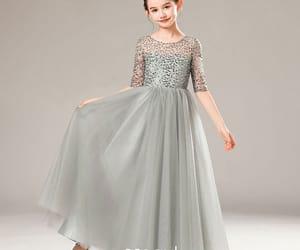 birthday dress, little girl dress, and flower girl dress image