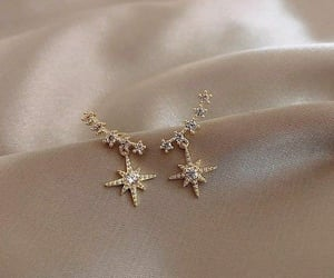 earrings, luxury, and stars image