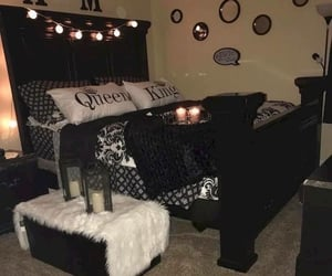 bedding, chic, and bedrooms image