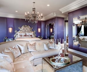 bedroom, diamonds, and gold image