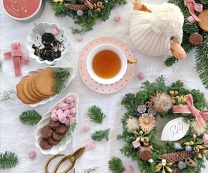 cup of tea, sweets, and tea image