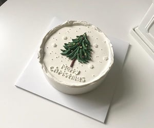 cake, christmas, and white image