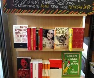 book store, literature, and books image