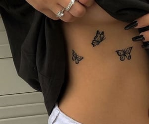 butterfly, tattoo, and cute image