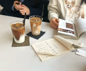 coffee, drink, and beige image
