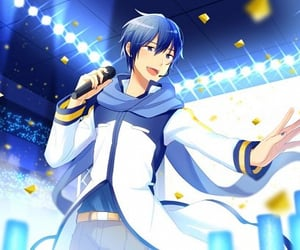 vocaloid, holding item, and kaito image