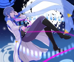 vocaloid, kaito, and holding item image