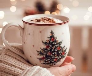 christmas, coffee, and christmas tree image
