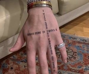 tattoo, aesthetic, and hand image