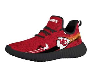 custom sneakers, kansas city chiefs, and yeezy sneakers image
