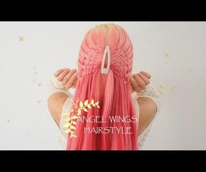 angel, braids, and holidays image