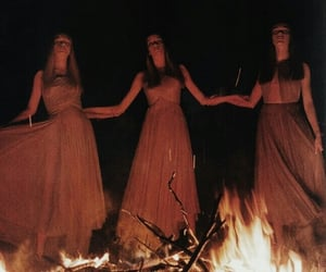 aesthetic, fire, and Witches image