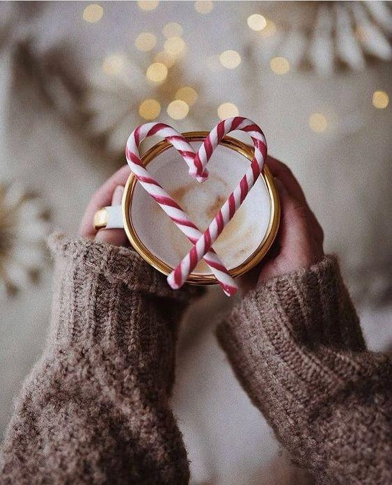 aesthetic, coffee, and winter wonderland image