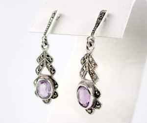 etsy, wedding earrings, and amethyst earrings image