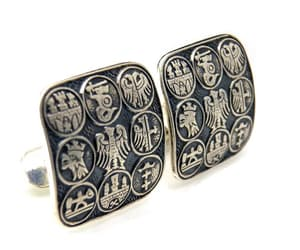 1960's, cuff links, and large cuff links image