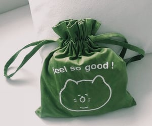 green, aesthetic, and bag image