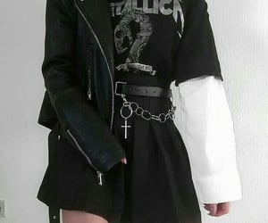 aesthetic, black, and outfit image