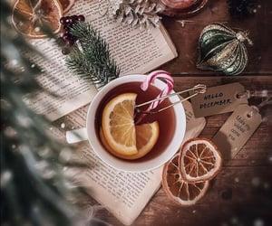 book, christmas, and cup of tea image